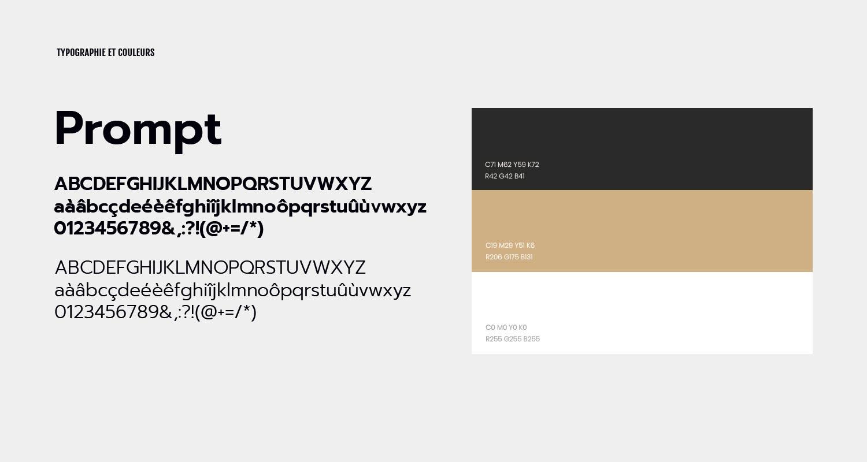 Typographie et couleurs Hexagon Recrutement